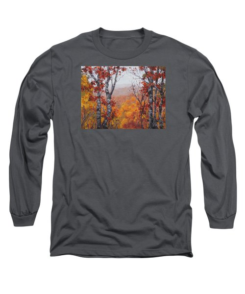 Long Sleeve T-Shirt featuring the painting Fall Color by Karen Ilari
