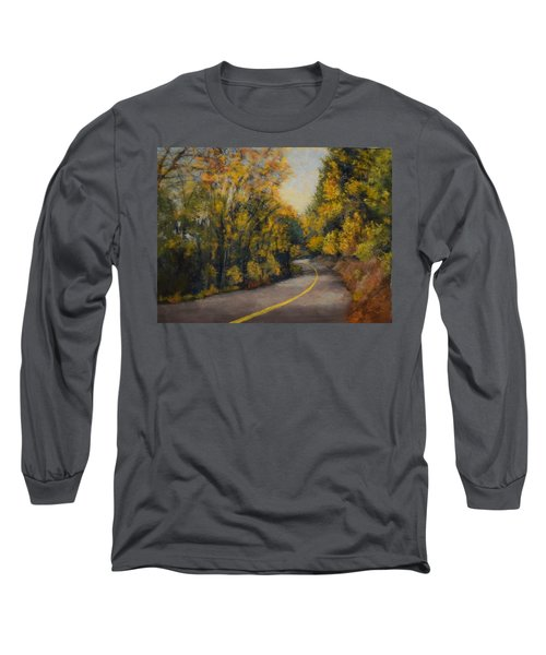 Long Sleeve T-Shirt featuring the painting Fall Color by Nancy Jolley