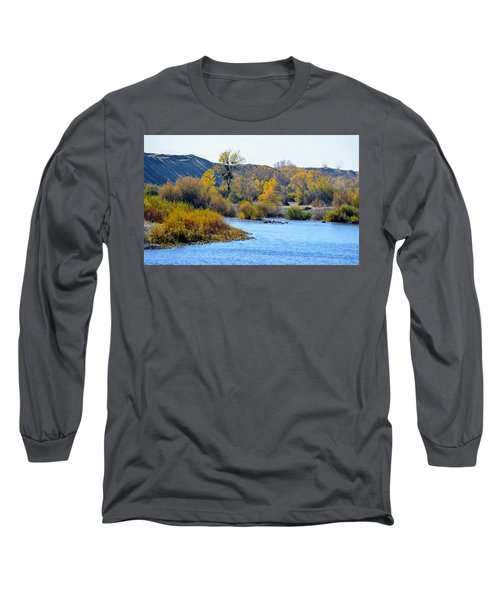 Long Sleeve T-Shirt featuring the photograph Fall Color On The Yuba  by AJ Schibig