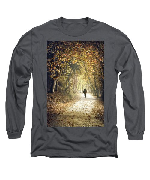 Fall Colors In The Woods Long Sleeve T-Shirt