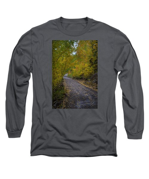 Fall Colors On Engineer Pass Long Sleeve T-Shirt by Michael J Bauer