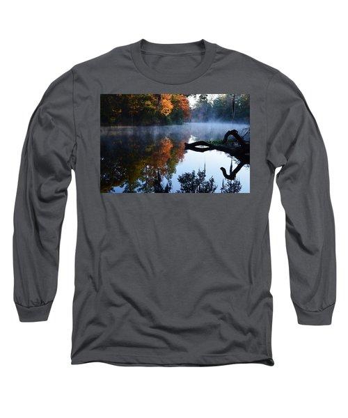 Fall Fog Long Sleeve T-Shirt by Warren Thompson