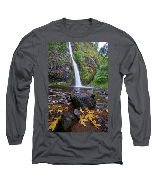 Long Sleeve T-Shirt featuring the photograph Fall Gorge by Jonathan Davison