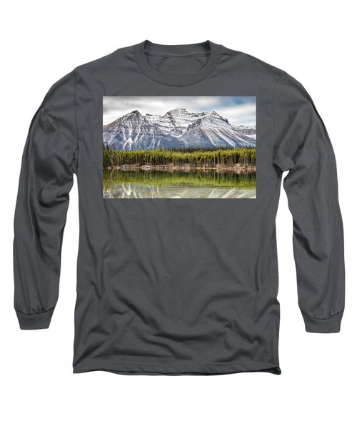 Fall In The Canadian Rockies Long Sleeve T-Shirt by Pierre Leclerc Photography