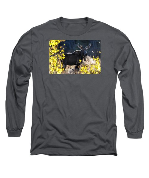 Fall Moose Long Sleeve T-Shirt