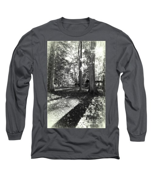 Fall Picnic Bw Painted Long Sleeve T-Shirt by Judy Wolinsky