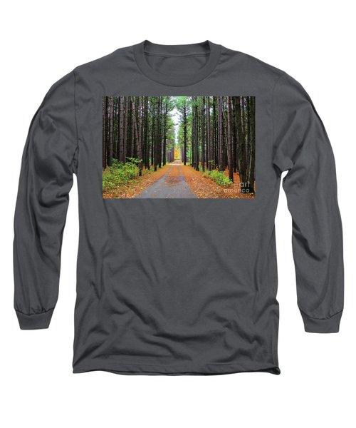 Fall Pines Road Long Sleeve T-Shirt