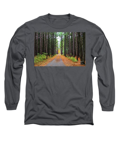 Fall Pines Road Long Sleeve T-Shirt