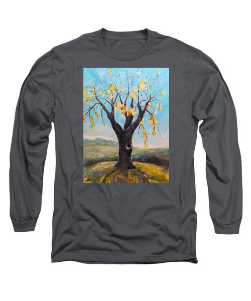 Fall Tree In Virginia Long Sleeve T-Shirt by Becky Kim