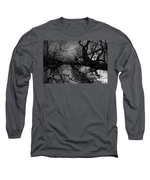 Fallen Dark Wood Forest Long Sleeve T-Shirt