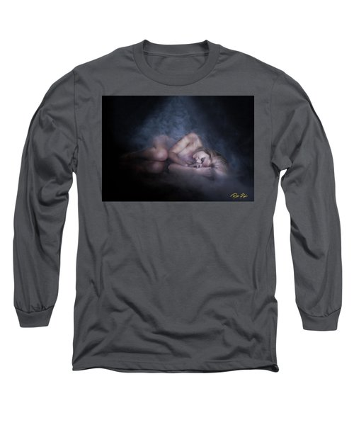 Long Sleeve T-Shirt featuring the photograph Fallen Figure In The Fog by Rikk Flohr