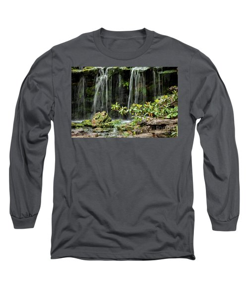 Falling Falls In The Garden Long Sleeve T-Shirt