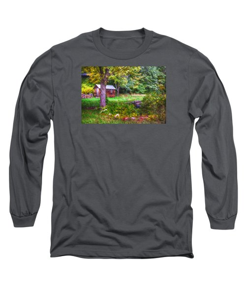 Falling Into Autumn Long Sleeve T-Shirt by Tricia Marchlik