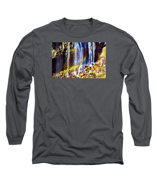 Falling Rainbows Long Sleeve T-Shirt by Anthony Baatz