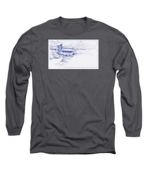 Fallingwater Blueprint Long Sleeve T-Shirt
