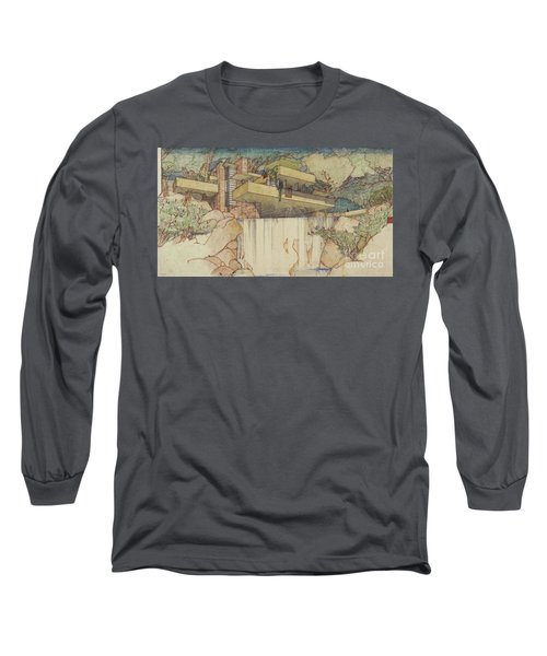 Fallingwater Pen And Ink Long Sleeve T-Shirt