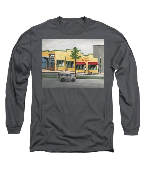 Long Sleeve T-Shirt featuring the painting Falls Church by Victoria Lakes