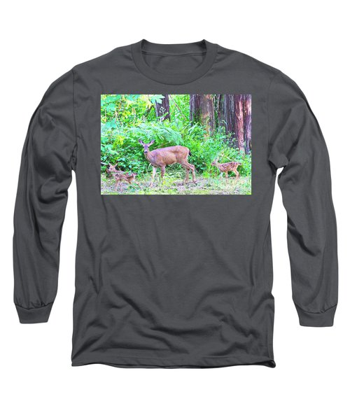 Family In The Wild Long Sleeve T-Shirt by Ansel Price
