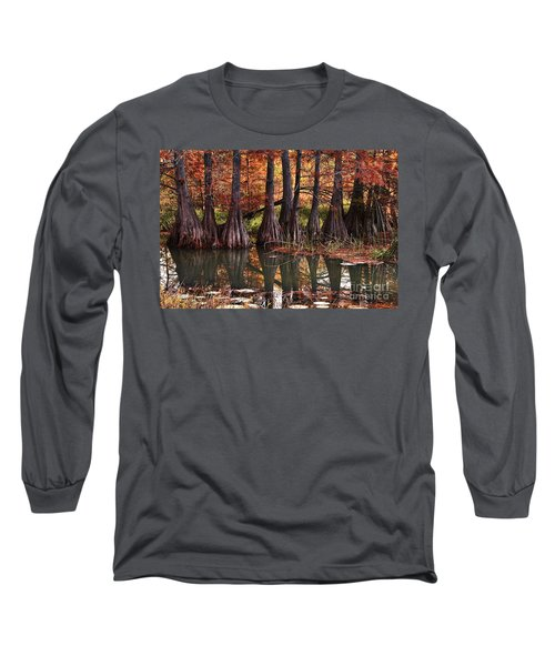 Long Sleeve T-Shirt featuring the photograph Family Of Cypress At Lake Murray by Tamyra Ayles