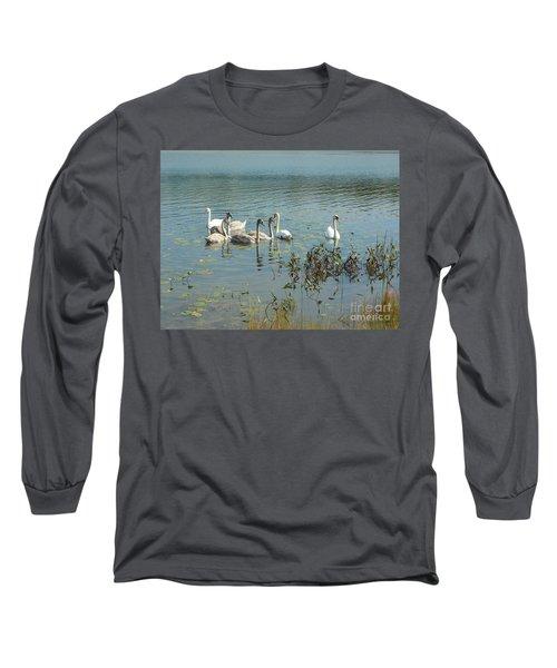 Family Of Swans Long Sleeve T-Shirt