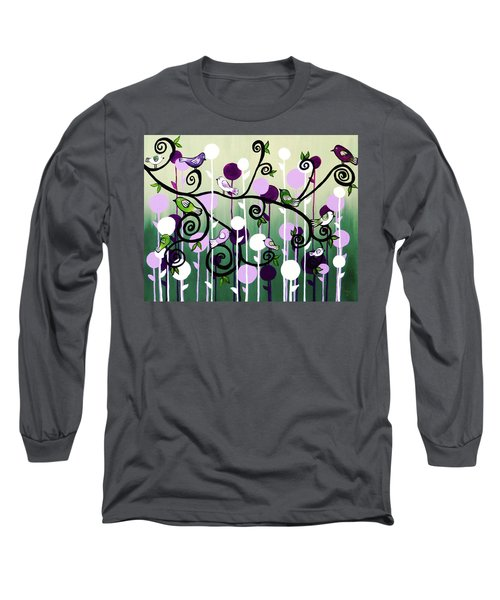 Long Sleeve T-Shirt featuring the painting Family Tree by Teresa Wing