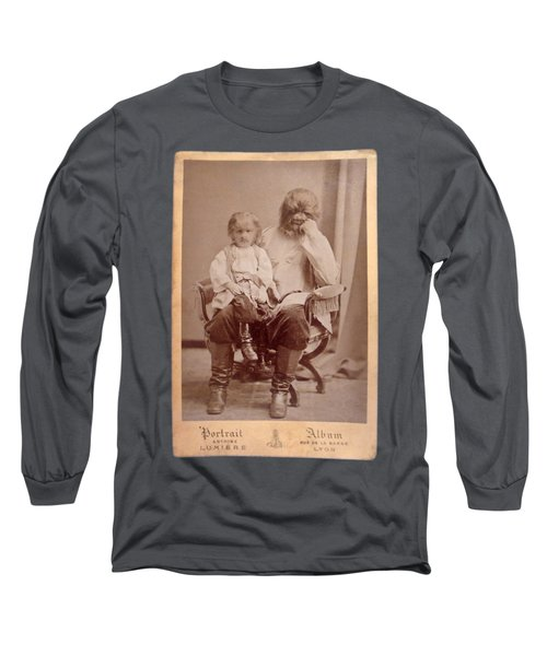 Famous Russian Sideshow Performer Jo-jo The Dog-faced Boy Long Sleeve T-Shirt by Celestial Images
