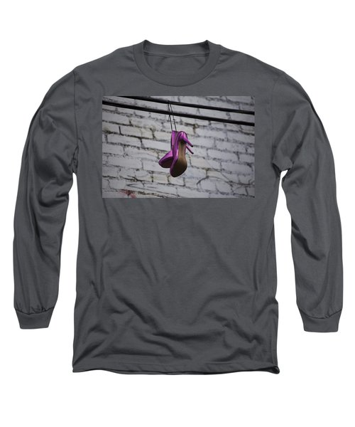 Long Sleeve T-Shirt featuring the photograph Fancy Feet by Lora Lee Chapman