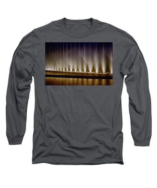 Fanfare Fountains Long Sleeve T-Shirt by Joseph Hollingsworth