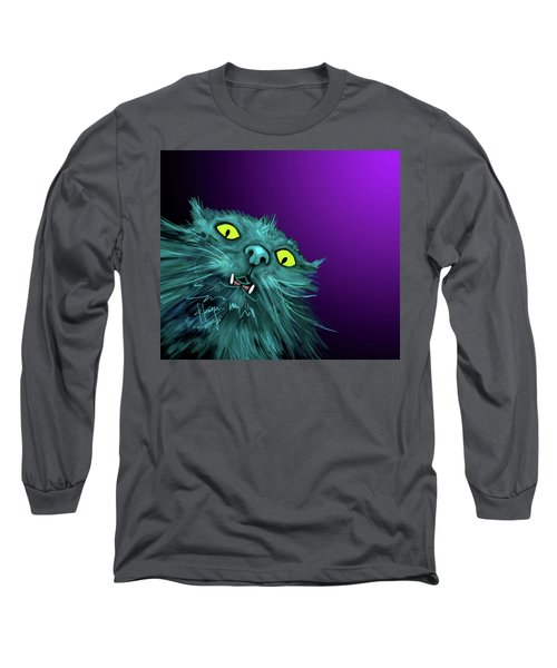 Fang Dizzycat Long Sleeve T-Shirt by DC Langer