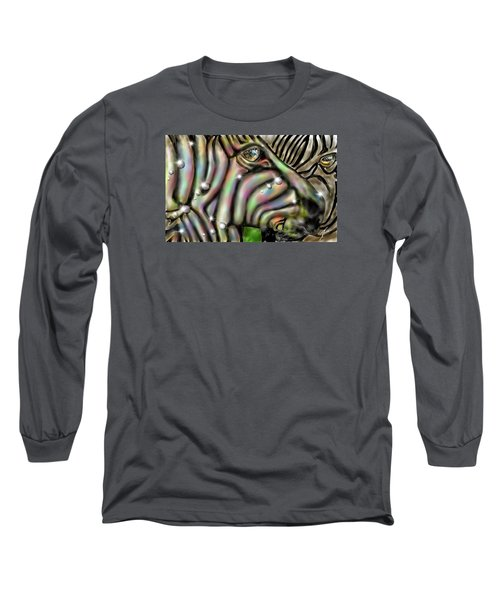 Fantastic Zebra Long Sleeve T-Shirt by Darren Cannell