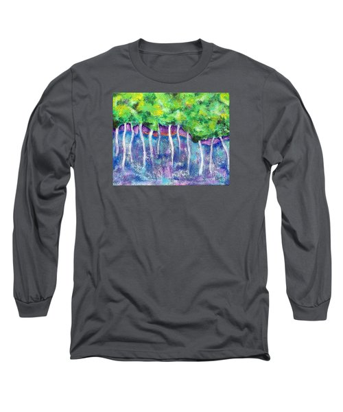 Fantasy Forest Long Sleeve T-Shirt by Elizabeth Fontaine-Barr