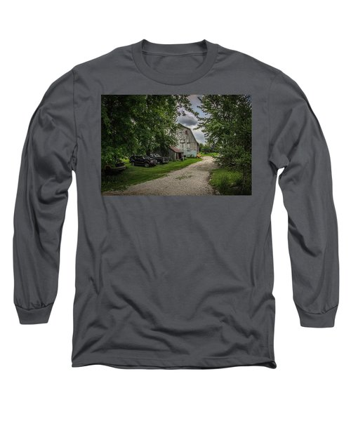 Long Sleeve T-Shirt featuring the photograph Farm Drive by Ray Congrove