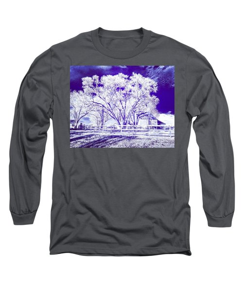 Farm In Suburbia With Wildcat Flare Long Sleeve T-Shirt