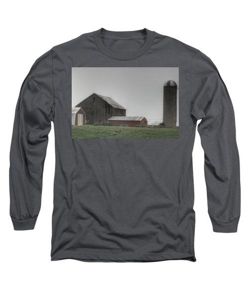 0011 - Farm In The Fog II Long Sleeve T-Shirt