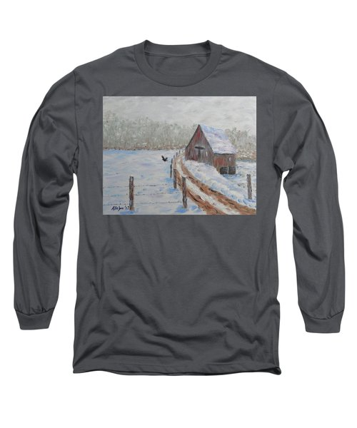 Farm Land Long Sleeve T-Shirt by Stanton Allaben
