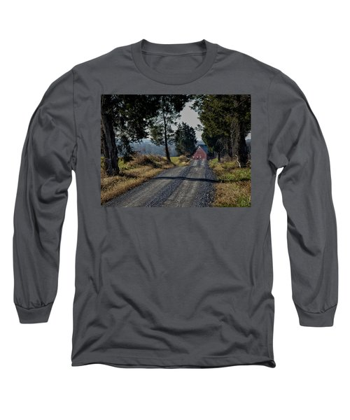 Long Sleeve T-Shirt featuring the photograph Farm Lane by Robert Geary