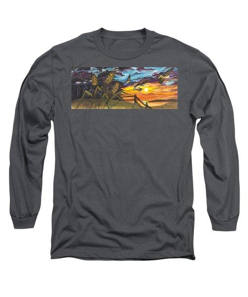 Farm Sunset Long Sleeve T-Shirt