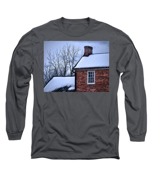 Long Sleeve T-Shirt featuring the photograph Farmhouse Window by Robert Geary