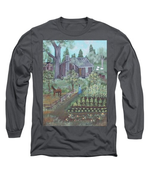 Farmstead Long Sleeve T-Shirt by Virginia Coyle