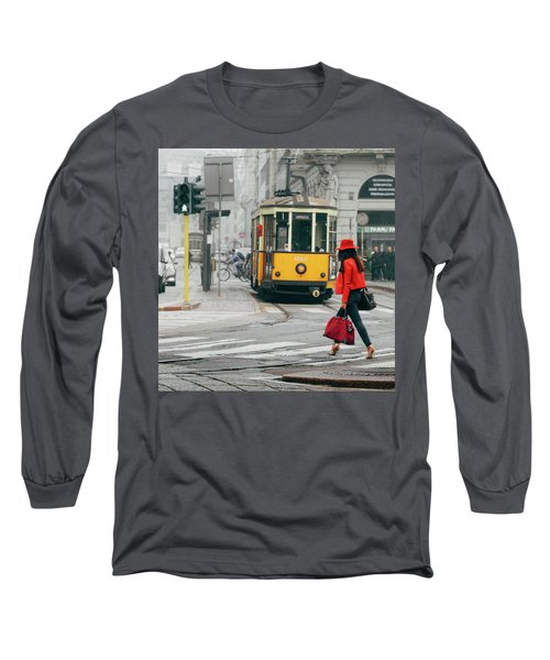 Fashionista In Milan, Italy Long Sleeve T-Shirt