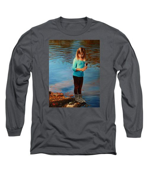Long Sleeve T-Shirt featuring the painting Fast Friends by Glenn Beasley