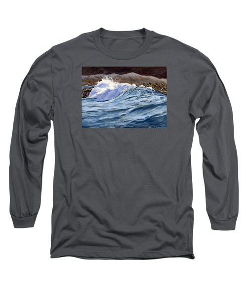 Long Sleeve T-Shirt featuring the painting Fat Wave by Lawrence Dyer