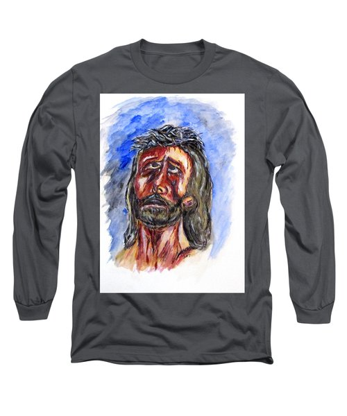 Father Forgive Them Long Sleeve T-Shirt by Clyde J Kell