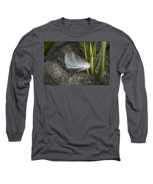 Feather And Beach Grass Long Sleeve T-Shirt