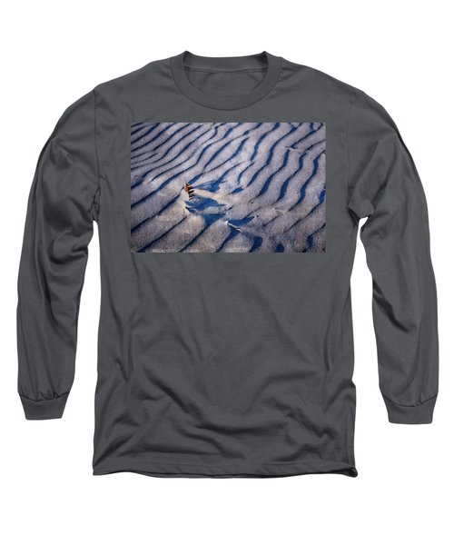 Long Sleeve T-Shirt featuring the photograph Feather In Sand by Michelle Calkins