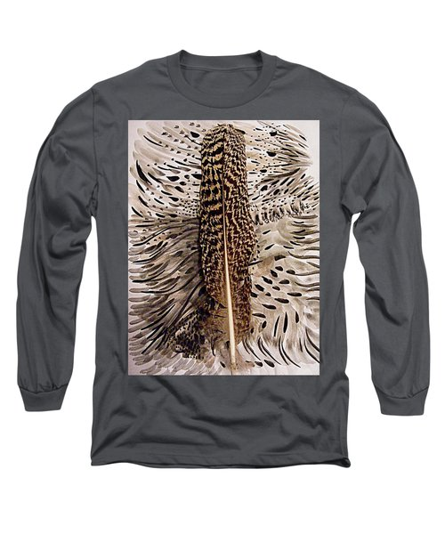 Feather Long Sleeve T-Shirt by Nancy Kane Chapman
