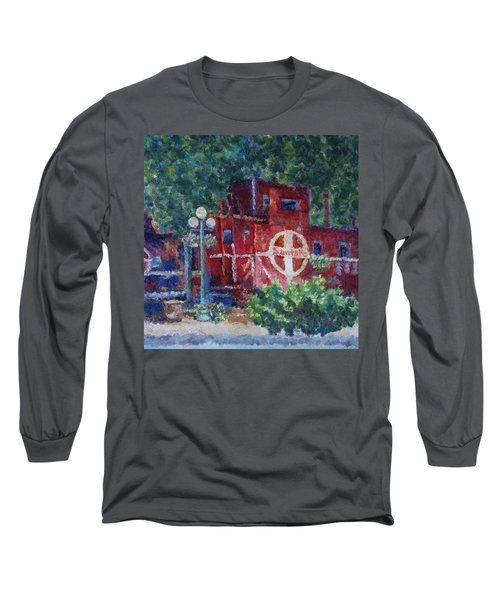 Featherbed Railroad Caboose Long Sleeve T-Shirt
