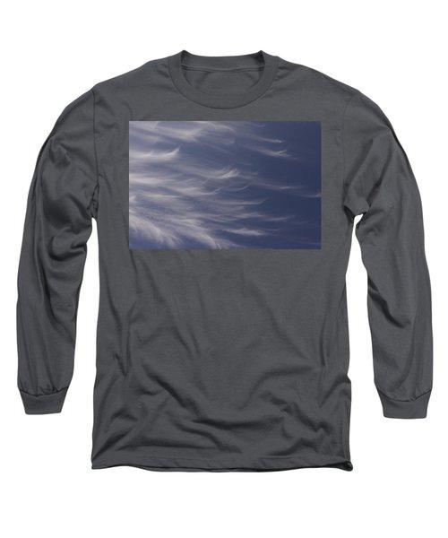 Feathery Sky Long Sleeve T-Shirt by Shari Jardina