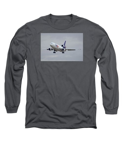 Fedex Express Mcdonnell Douglas Md-10-10f N359fe Phoenix Sky Harbor December 23 2015 Long Sleeve T-Shirt
