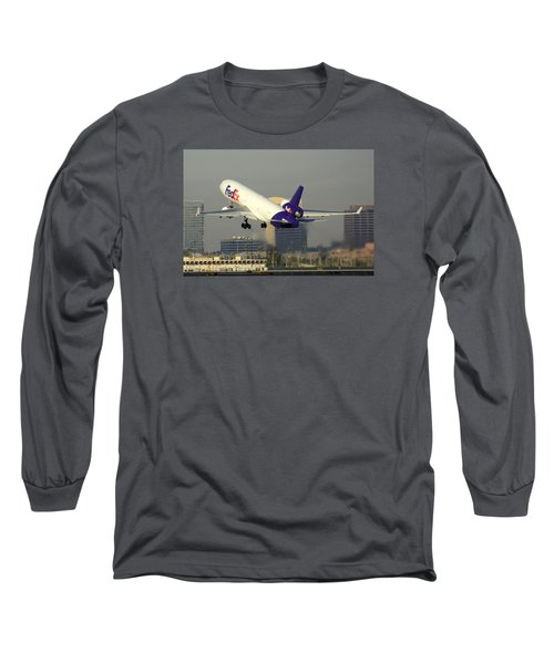 Fedex Express Mcdonnell-douglas Md-11f N631fe Phoenix Sky Harbor December 20 2015  Long Sleeve T-Shirt
